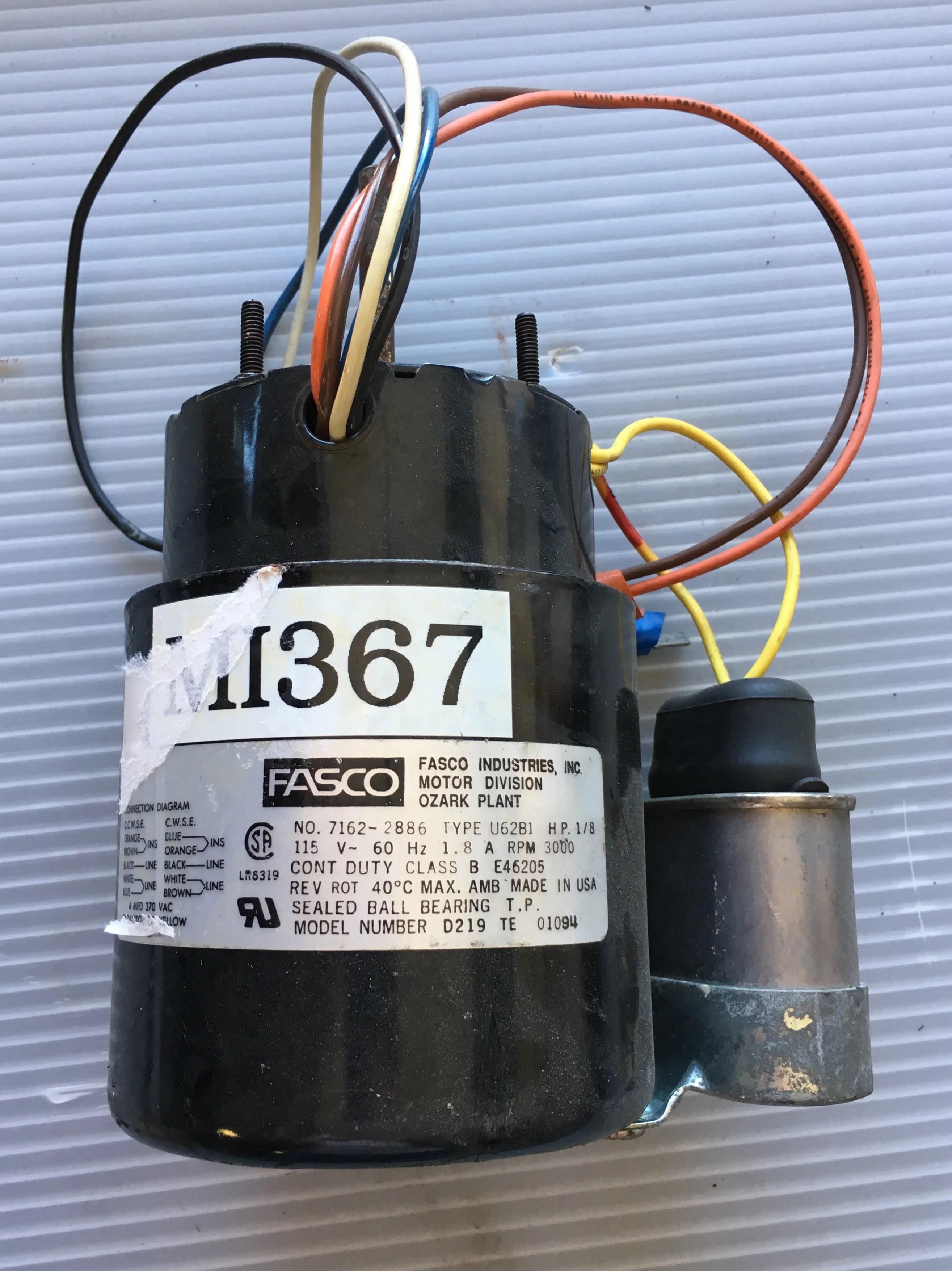medium resolution of fasco motor u62b1 1 8 hp 3000 rpm 115 v metal logics inc fasco lr6319 motor fasco type u62b1 wiring diagram