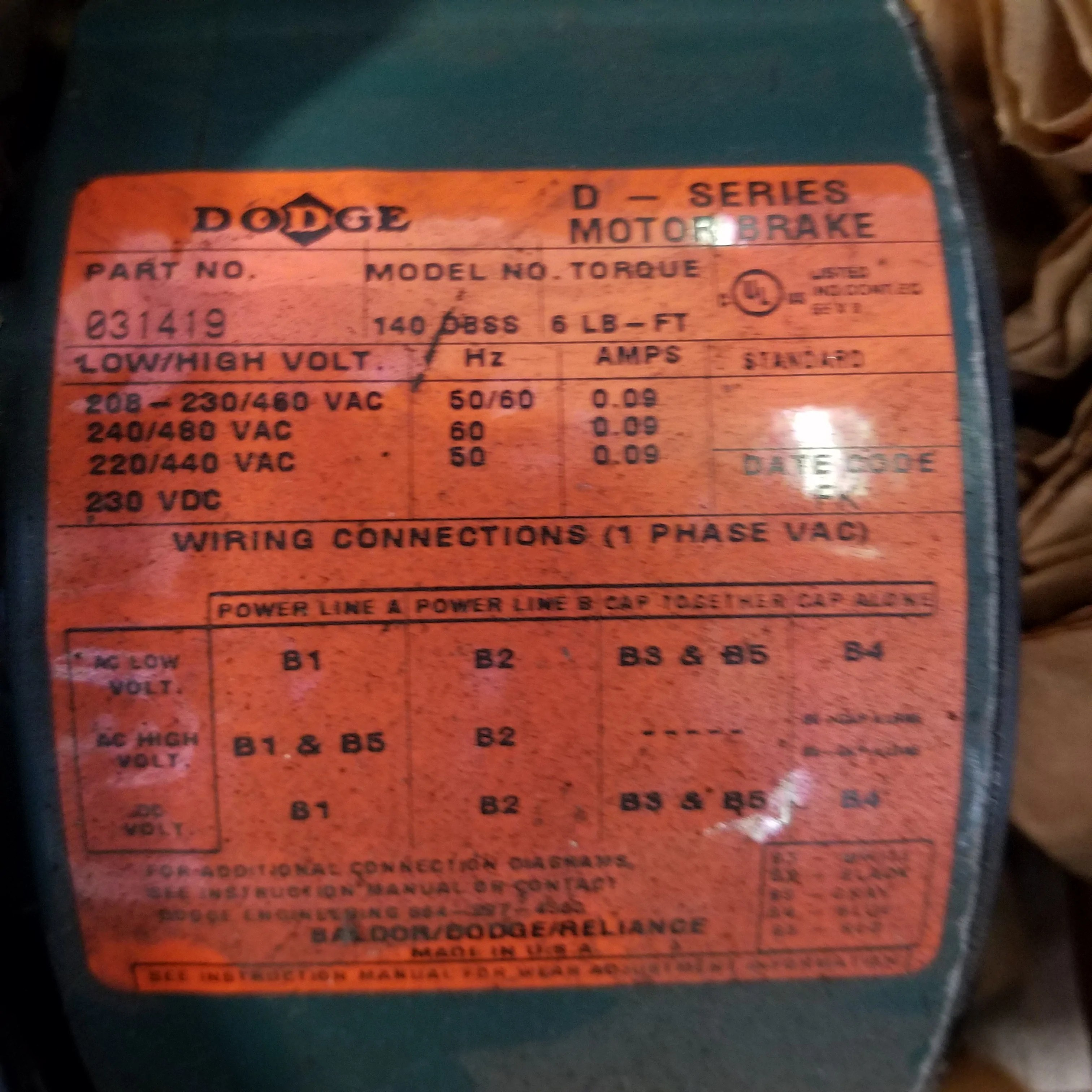 small resolution of dodge 031419 140 dbss motor brake trimmer