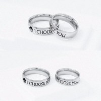 I Choose You Ring Couple Stainless Steel Engagement Rings ...