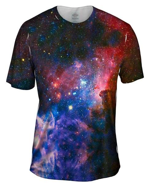 Carina Nebula Space Galaxy Mens TShirt  Yizzam