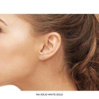 3MM Gold Ball Earrings  JewelMORE.com