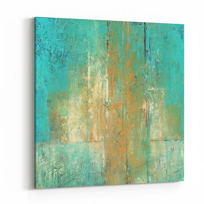 abstract acrylic painting in