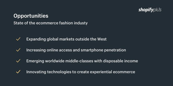 Opportunities within the ecommerce fashion industry