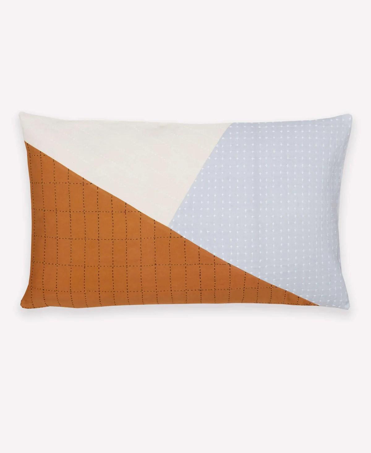naari colorblock lumbar pillow
