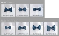 Custom bow ties in 7 shapes made in freestyle, pre-tied or ...