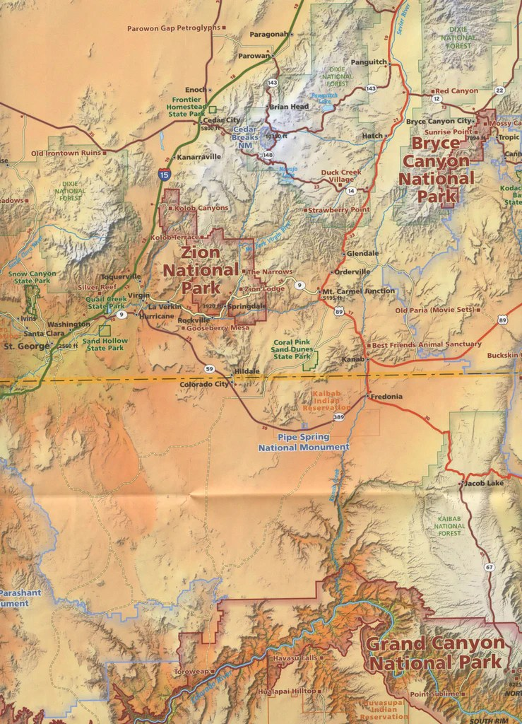 National Parks Map Guide An essential map for Utah