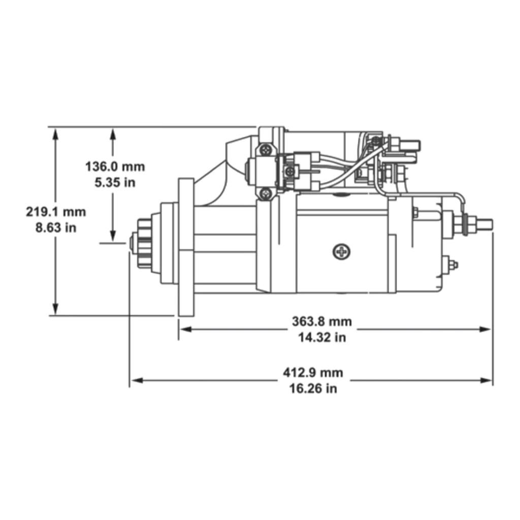 medium resolution of  john delco remy starter freightliner western star 8200434 on sterling starter wiring diagram kenworth
