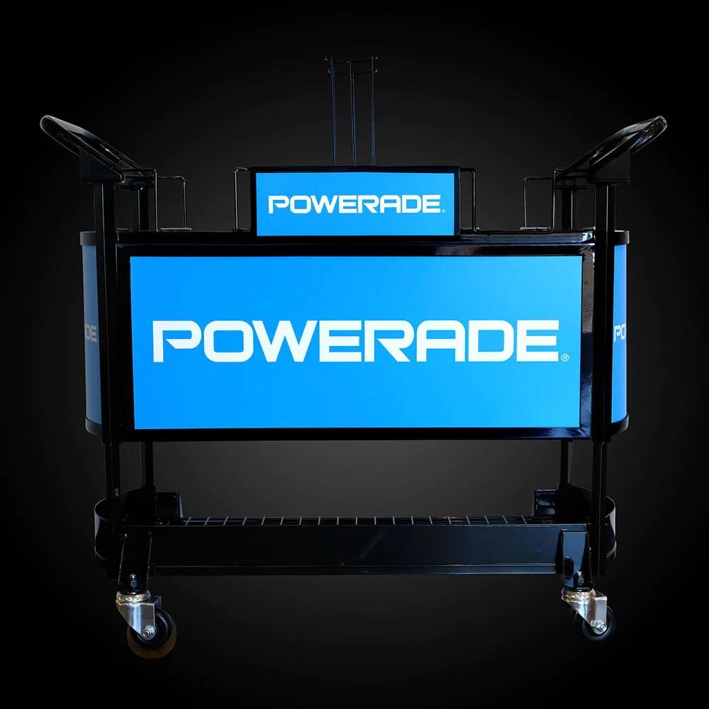 Powerade Sideline Cart Adjustable Height Settings