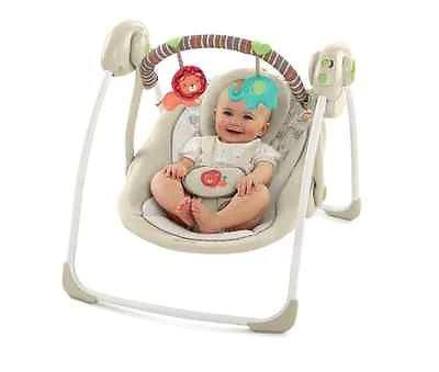 swing chair seat wide lounge cushions baby infant portable swings music player folds toys c bobbie jo s one stop shop