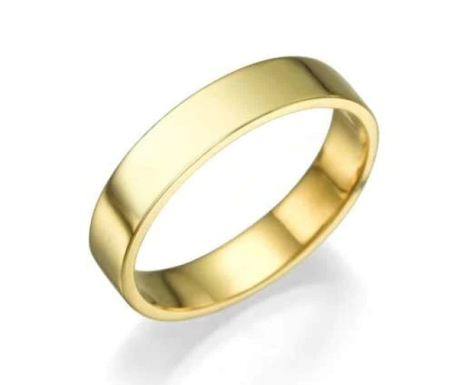 Wedding Rings Yellow Gold Wedding Bands  Mm Plain Wedding Rings For Women