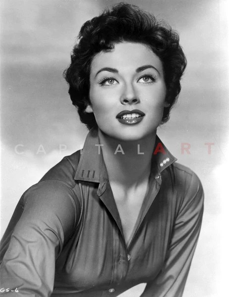 gia scala with red lips curly