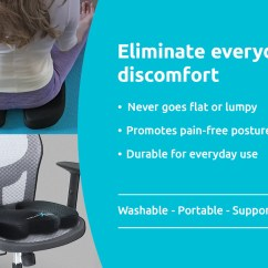 Posture Promoting Chair Oversized Slipcovers Ortho Seat Coccyx Cushion Xtreme Comforts
