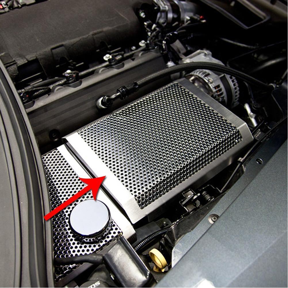 c7 corvette stingray fuse box cover polished perforated [ 1001 x 1001 Pixel ]