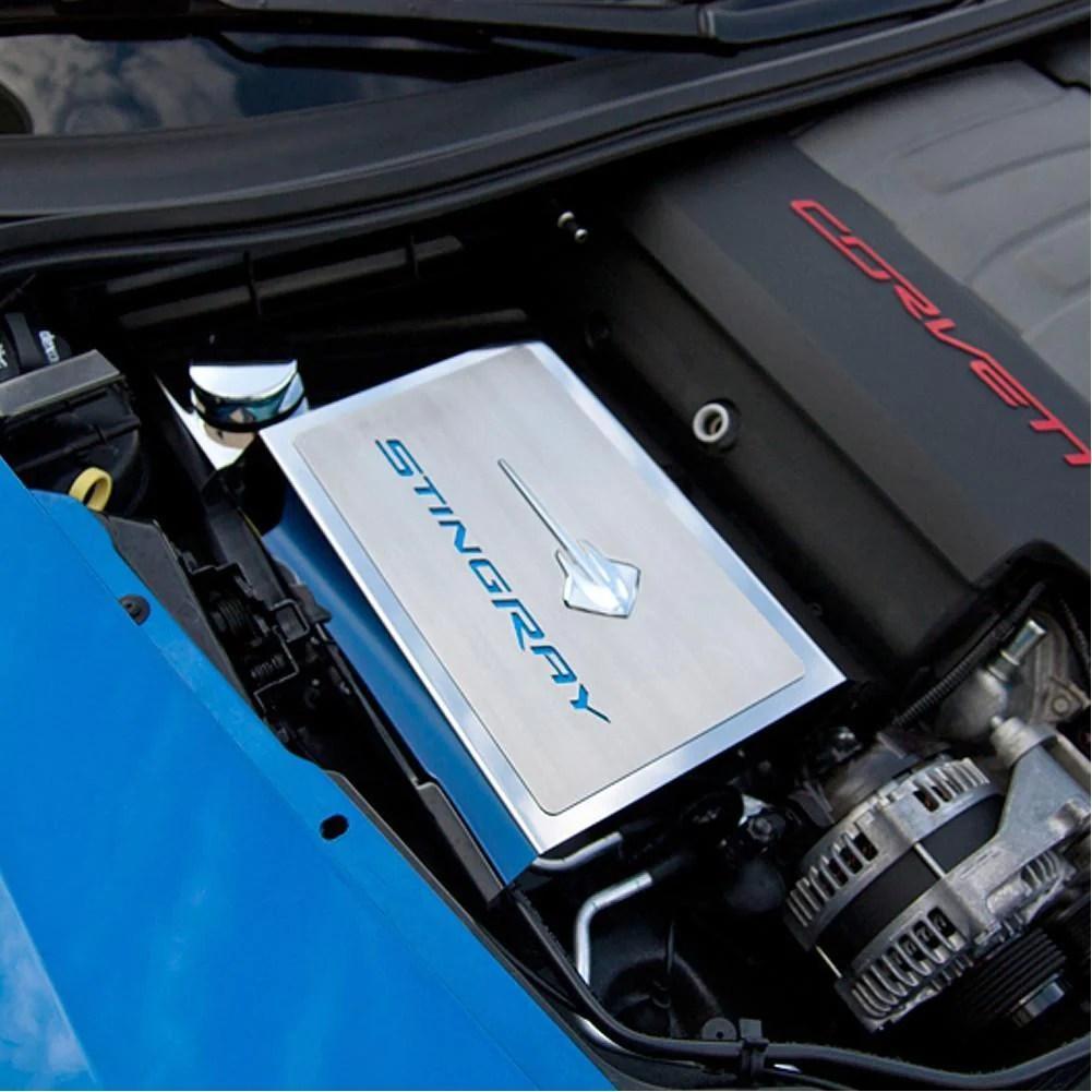 medium resolution of c7 corvette stingray fuse box cover with stingray emblem font carbon fiber colors