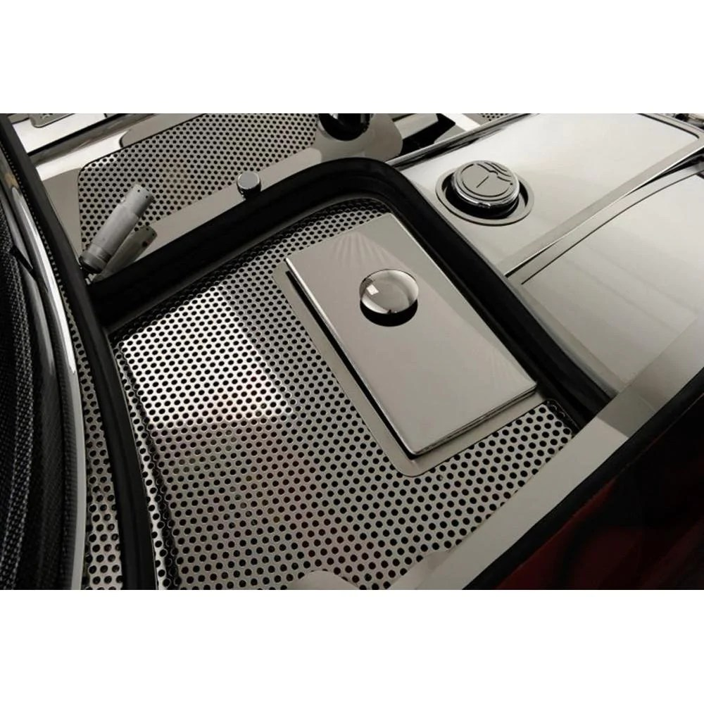 corvette fuse box cover perforated stainless steel 1997 2004 c5 z06 [ 1000 x 1000 Pixel ]