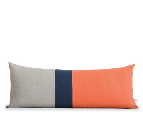 color block pillows more fresh home decor by jillianrenedecor