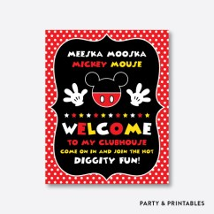 Adult Baby High Chair La Rocking Store Mickey Mouse Welcome Sign / Non-personalized Instant Download (pkb.1 – Party And Printables