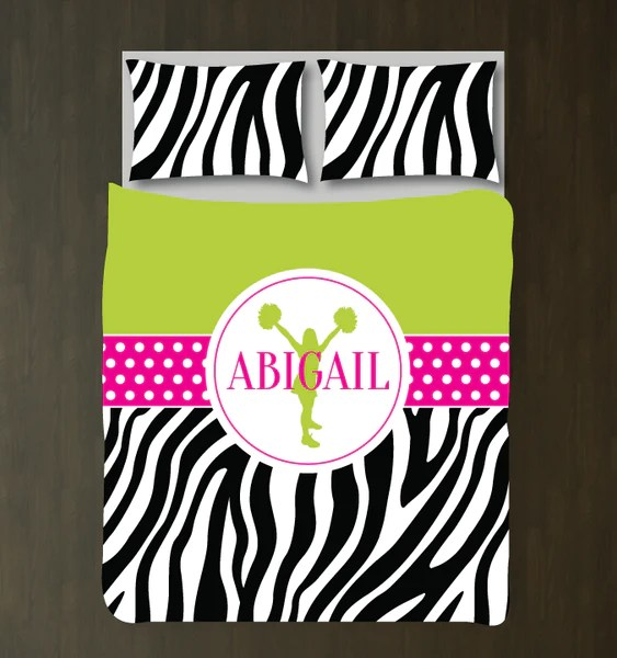 Zebra Print Cheerleading Custom Bedding  Shop Wunderkinds