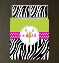 Zebra Print Cheerleading Custom Bedding  Shop Wunderkinds