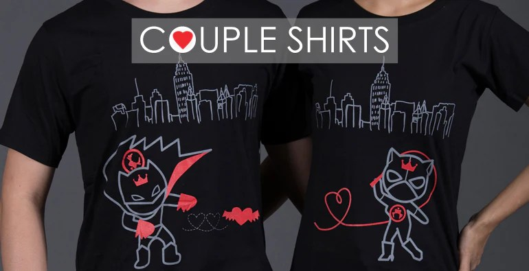 matching lovers' tees