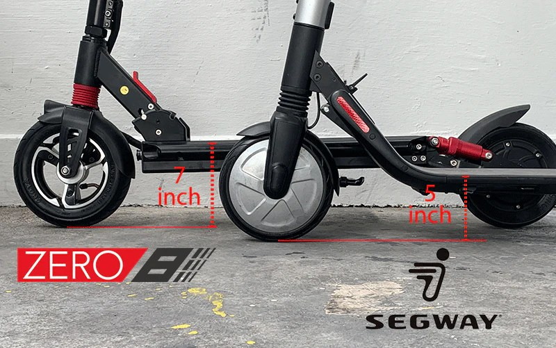 deck height es2 zero8 electric scooter