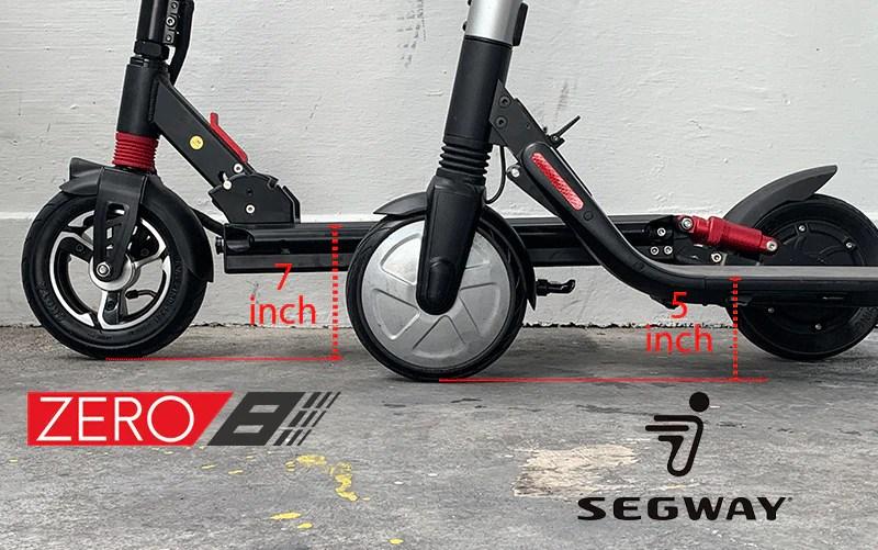 hauteur du pont es2 zero8 scooter électrique