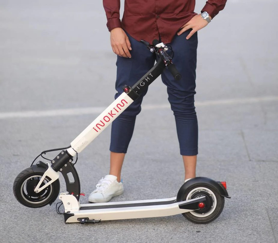 inokim light electric scooter white