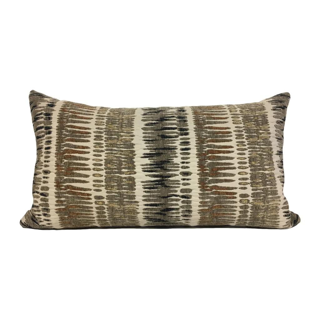 zorro mushroom lumbar pillow 12x22