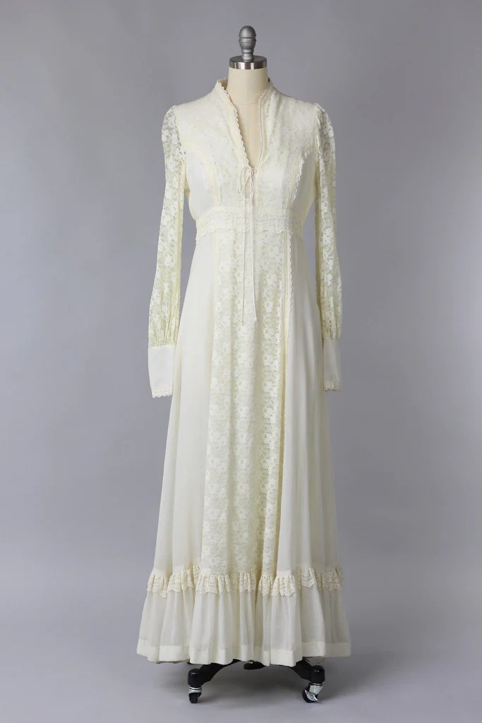 1970s Gunne Sax Wedding Dress  The Vintage Net