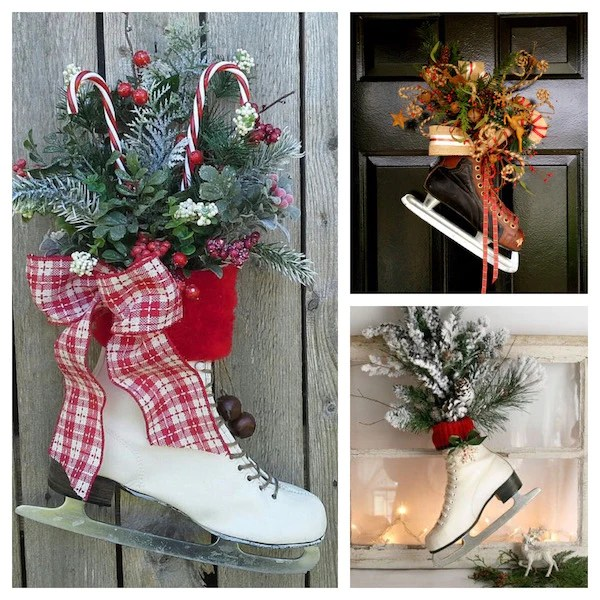 Vintage Ice Skate Decor