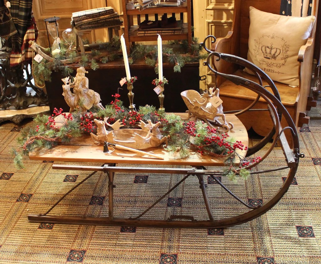 vanity chair with back steelcase think chairs it's time for christmas decorations! - ski country antiques & home