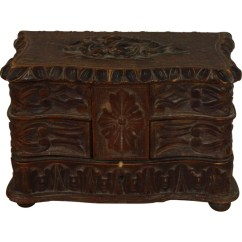 High Chair Deer Stand Barley Twist Petite Carved Jewelry Box - Ski Country Antiques & Home