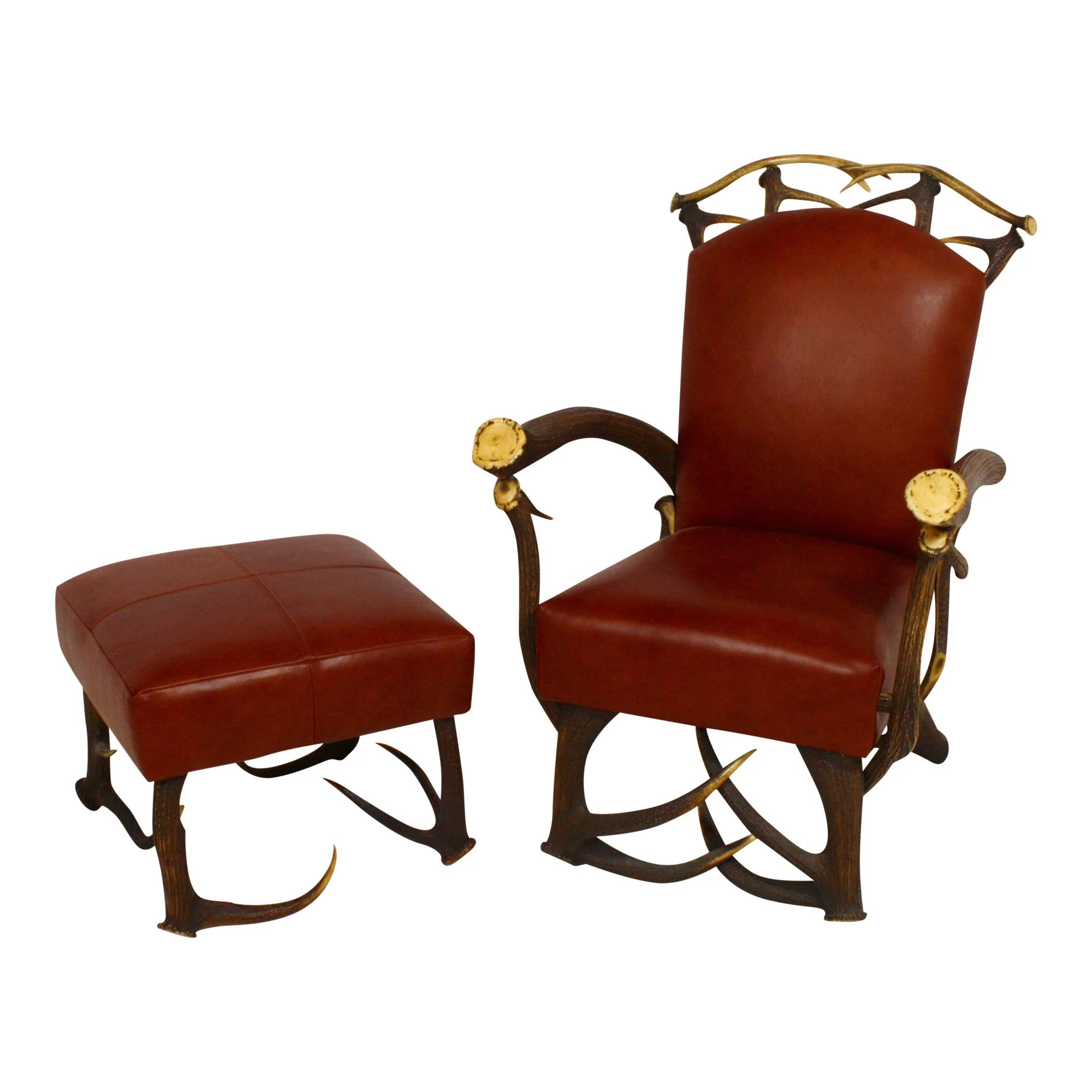 red leather chair and ottoman your covers inc coupon code with ski country antiques home