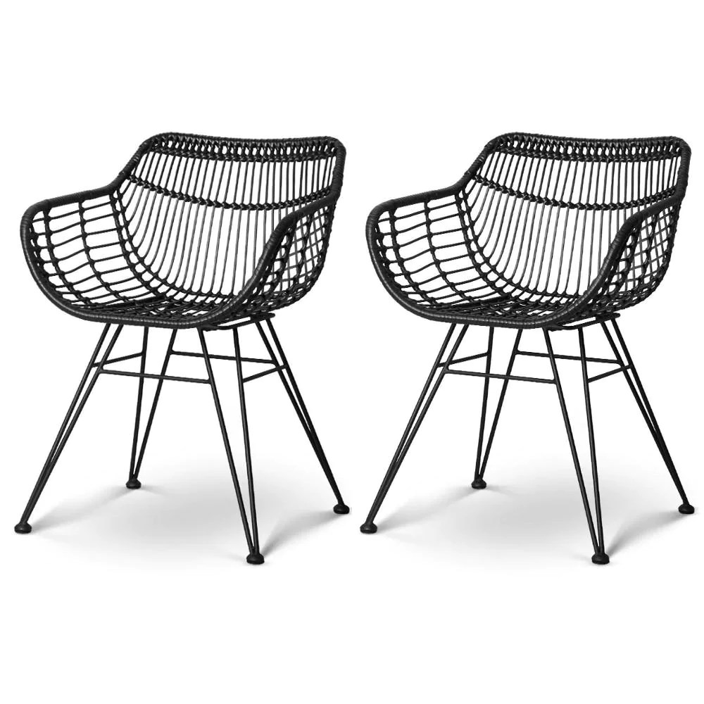 Outdoor Chair Set Powell Outdoor Chair Set Of 2 Black
