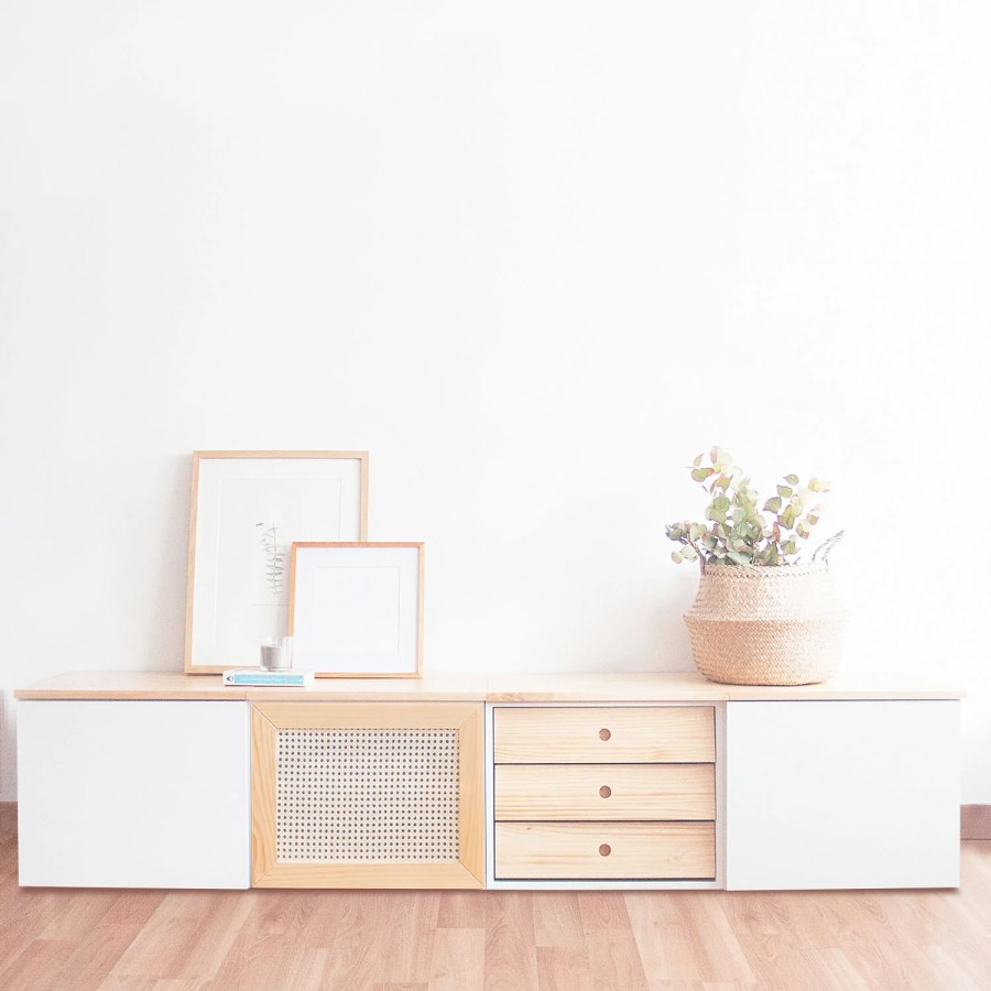 Mueble de TV para salón de estilo escandinavo