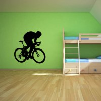 Bicycling Cycling Bicycle Wall Decal Sticker 6 ...