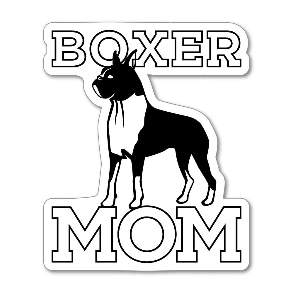 boxer mom sticker decal