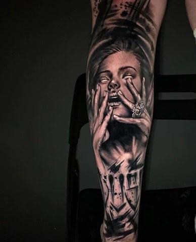 Dark Themed Tattoos : themed, tattoos, Neo-Traditional, Tattoos, Black, Tattoo, Magnumtattoosupplies