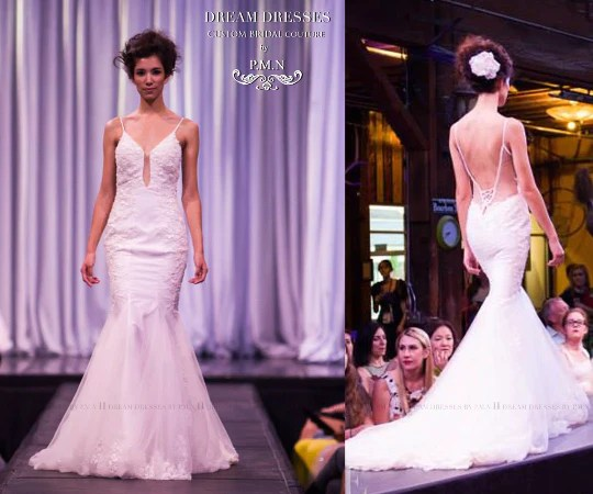 Spaghetti Strap Mermaid Wedding Dress With Bare Back