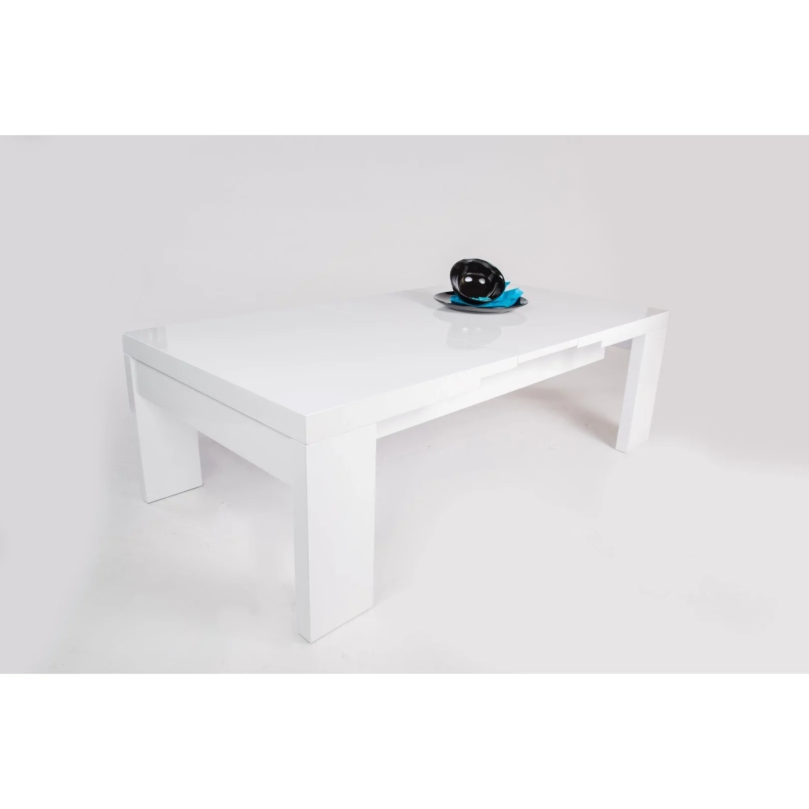 Mca Gina High Gloss White Designer Extending Coffee Table Freedom Homestore