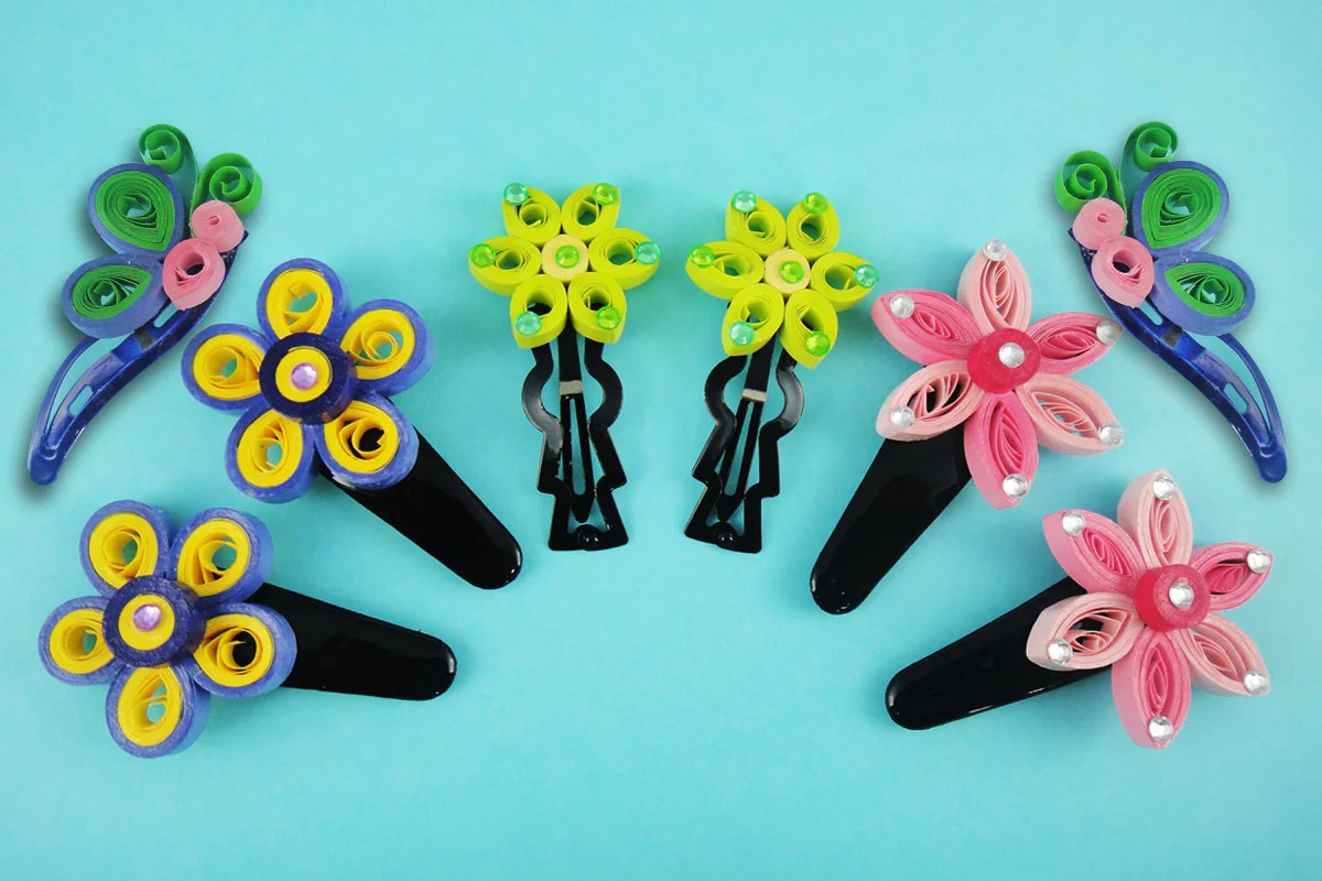 make quilling hair clips