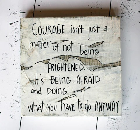 have courage canvas word
