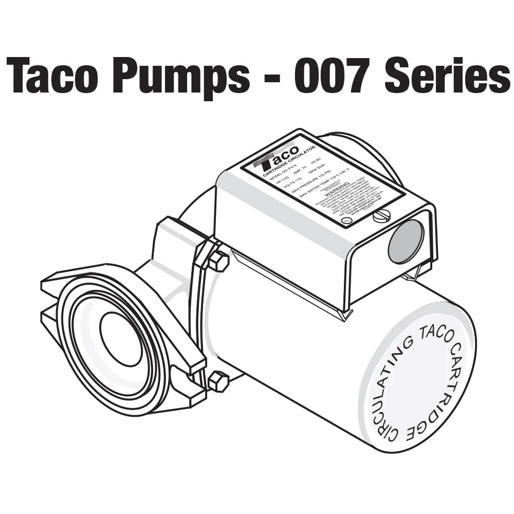 hight resolution of taco 007 zf5 9 priority zoning circulator pump 1 25