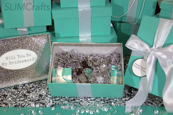 Silver Glam Bridesmaid Proposal Bridal Party Keepsake