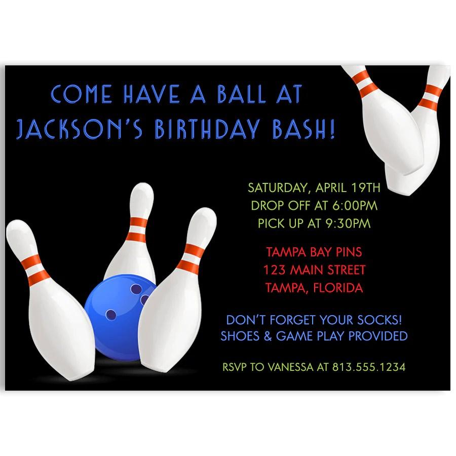 bowling boys birthday party