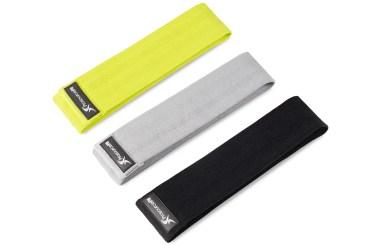 Green; Grey; Black - Fabric Loop Resistance Bands Set