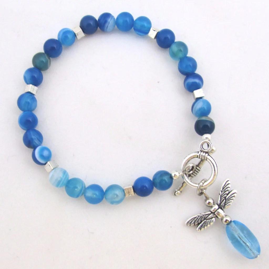 Firefly Blue Agate Bracelet Phoenix Art Museum Store