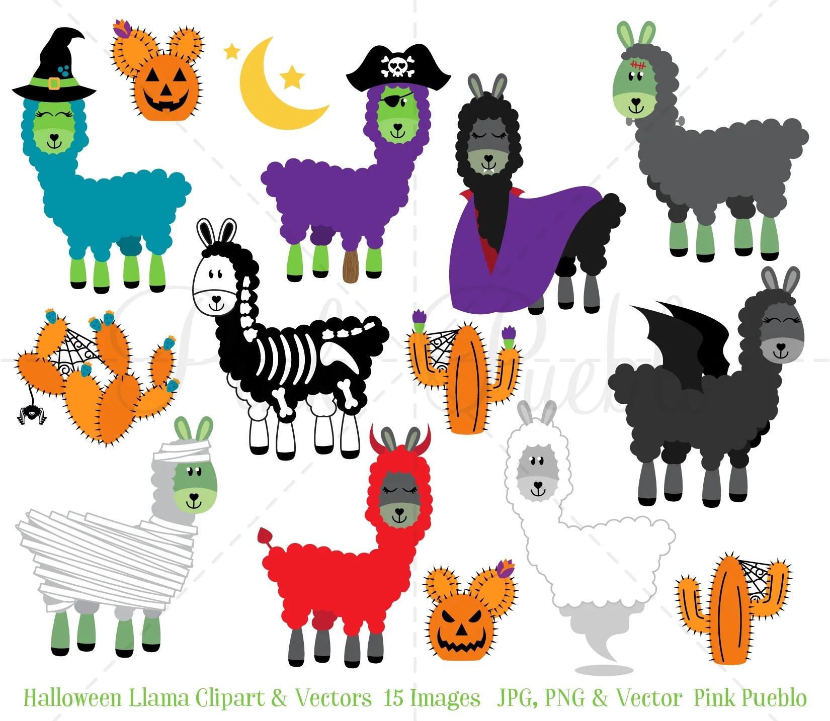 medium resolution of halloween llama clipart and vectors