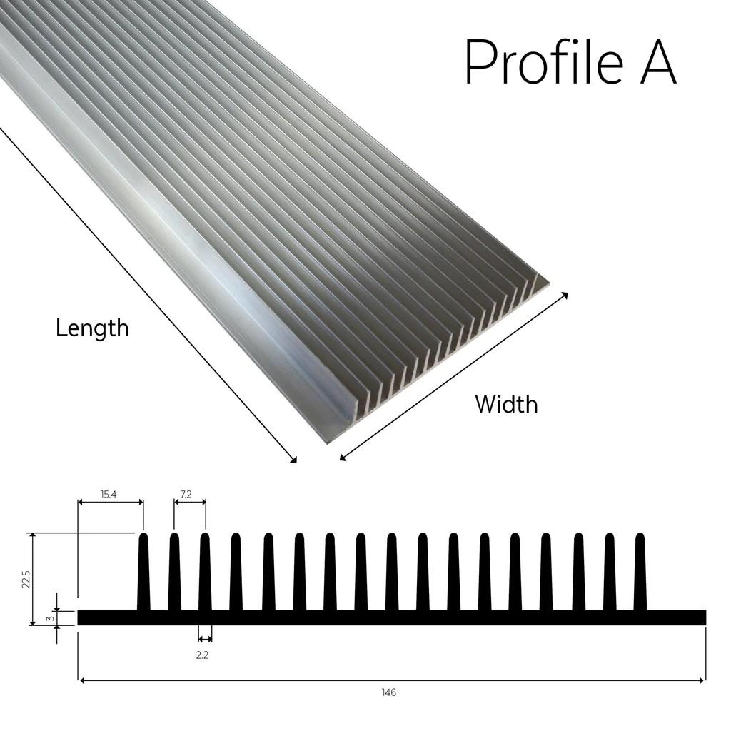 aluminium heatsink profile a t series