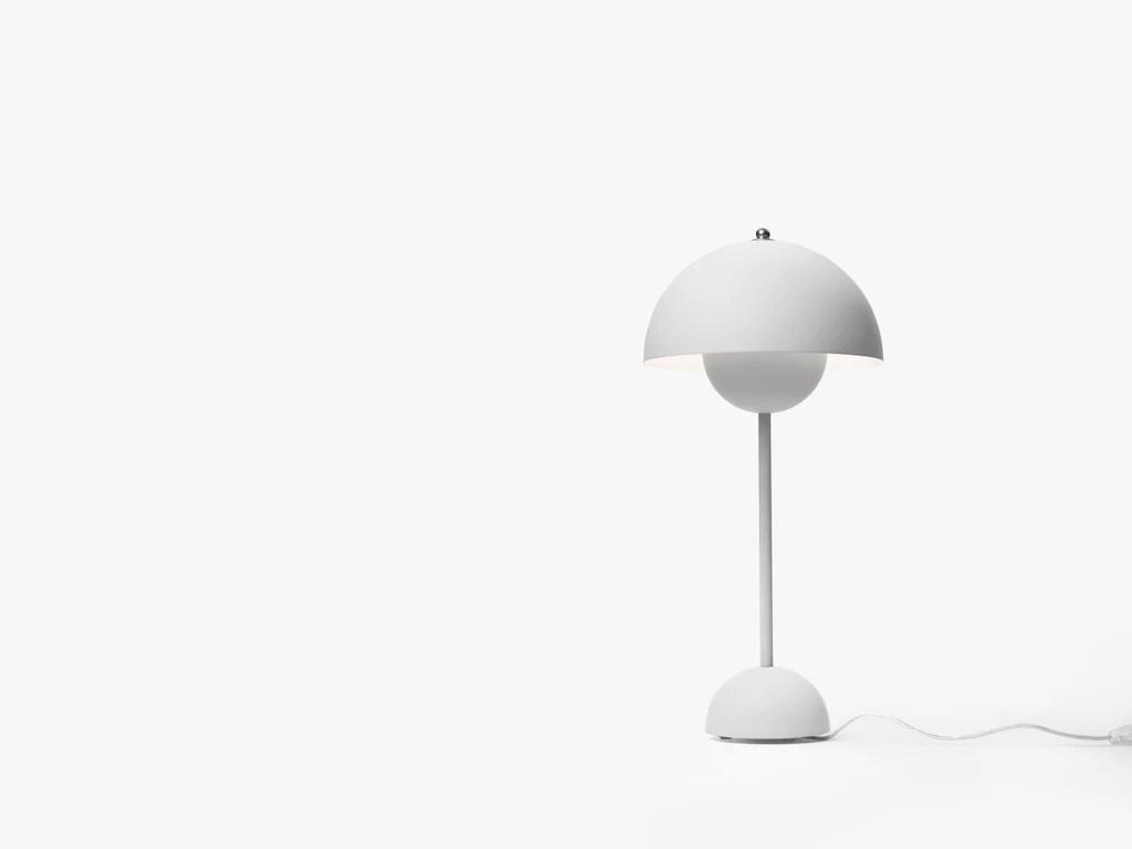 Vp3 Flowerpot Bordlampe Mat Lys Gra Vida La Luu
